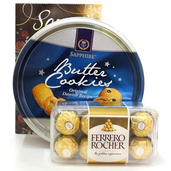 Butter Cookies Love Hamper - for Online Flower Delivery In India