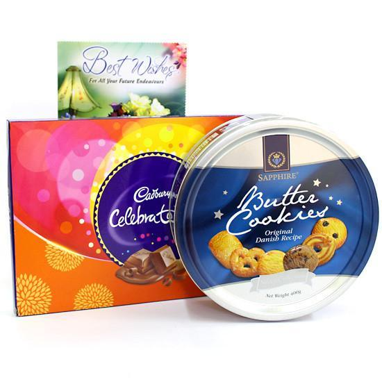 Buttercookies Choco Hamper - for Online Flower Delivery In India