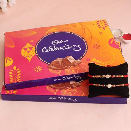Celebration With Rakhi - for Midnight Flower Delivery in India