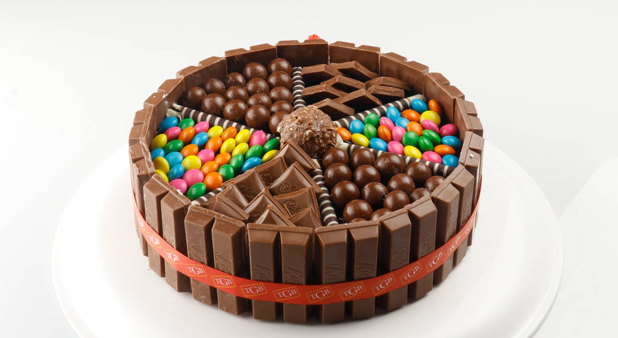 Choco Candy Gems Cake - for Online Flower Delivery In India