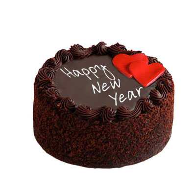 Chocolate Cake For New Year 2021 - for Midnight Flower Delivery in India