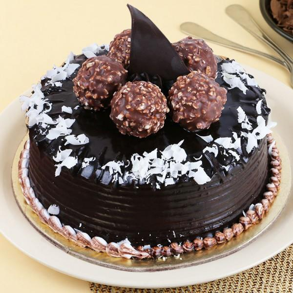 Chocolate Ferrero Rocher Cake - from Best Flower Delivery in India