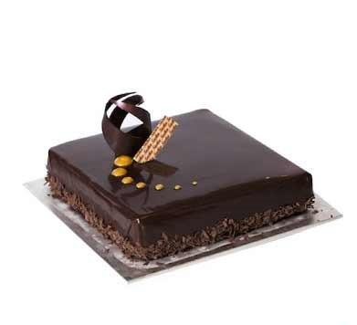 Chocolaty Swirl Truffle Cake - for Flower Delivery in India
