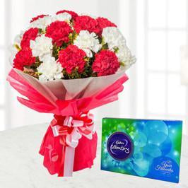 Chocolicious Carnations - for Flower Delivery in India