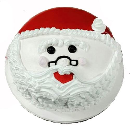 Christmas Vanilla Cake - for Midnight Flower Delivery in India