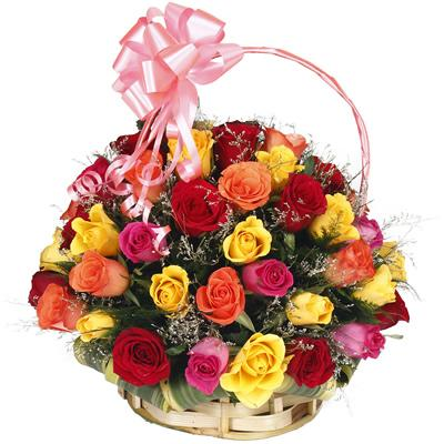 Classic Rose Basket - from Best Flower Delivery in India