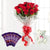 Cute n Sweet Combo- - This beautiful combo contains: 12 Red Roses wrapped in white cellophane paper Red Ribbon bow Five Cadbury Dairy Milk Chocolates 6 inch teddy
