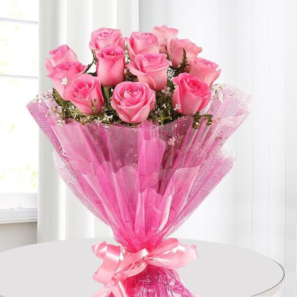 Cute Pink Roses Bouquet-Best Gift For Beloved