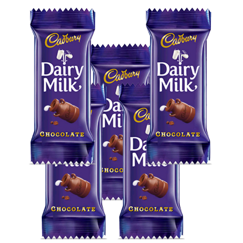 5 Dairy Milk 13 gm each - for Flower Delivery in India