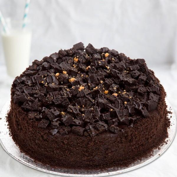 Dark Chocolate Rocky Road Cake - Send Flowers to India