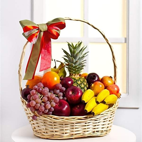 Delicious Fruit Basket - for Midnight Flower Delivery in India