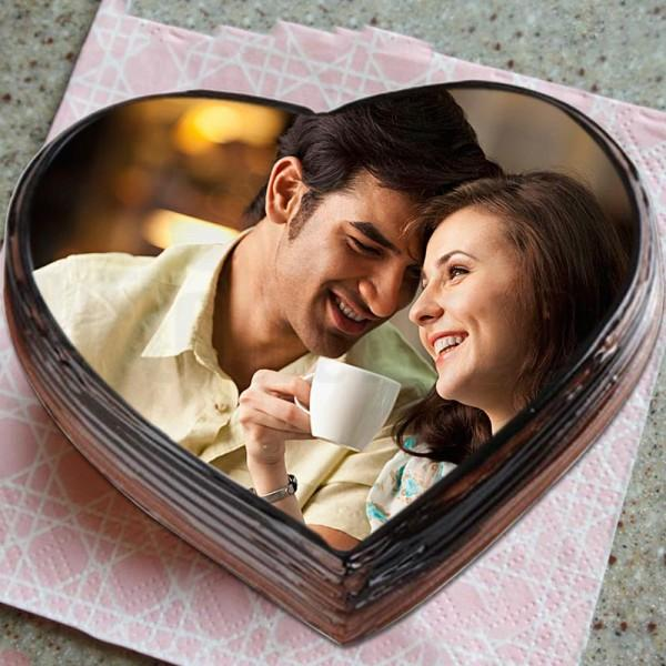 Detectable Chocolate Photo Cake - for Online Flower Delivery In India