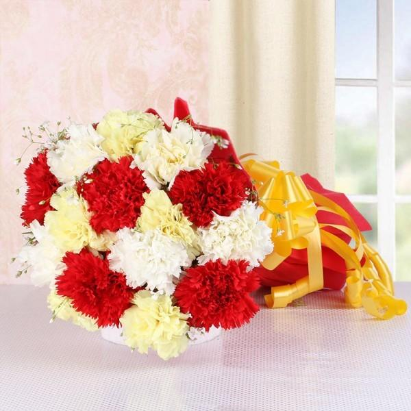 Divine Carnation Bouquet - from Best Flower Delivery in India