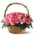 Elegant Basket of Love-pink flower wedding bouquet- - Product Details: 20 Pink Roses Fresh Green Fillers Large Cane Basket For encouragement, admiration, and inspiration, we have a basket filled with 20 pink roses and a sweet message to fill the life of the recipient with all the success and joy. Place your order now and get them delivered at the desired location and at the desired time. While we always strive to ensure that products are accurately represented in our photographs, from season to season and subject to availability, our florists may be required to substitute one or more flowers for a variety of equal or greater quality, appearance and value.