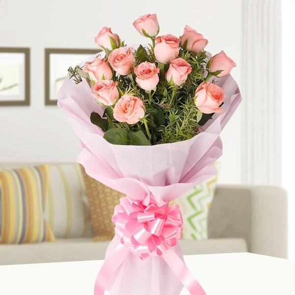 Endearing Pink Fantasy - for Midnight Flower Delivery in India