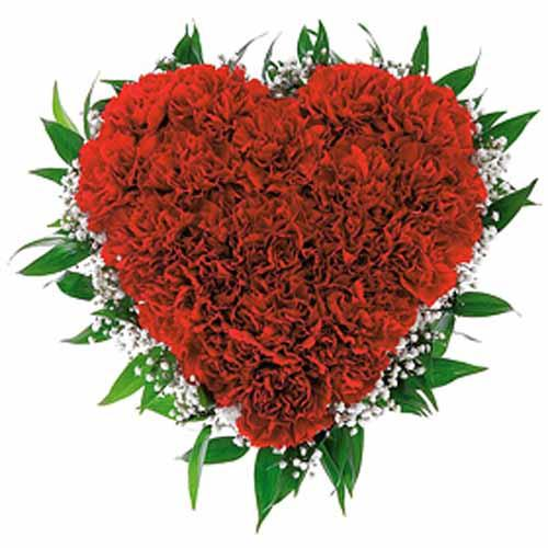 Exotic Heart - for Midnight Flower Delivery in India