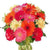 Express Love- - This beautiful bunch consist of: 15 Mix color Gerbera Fresh green and white fillers Large glass vase