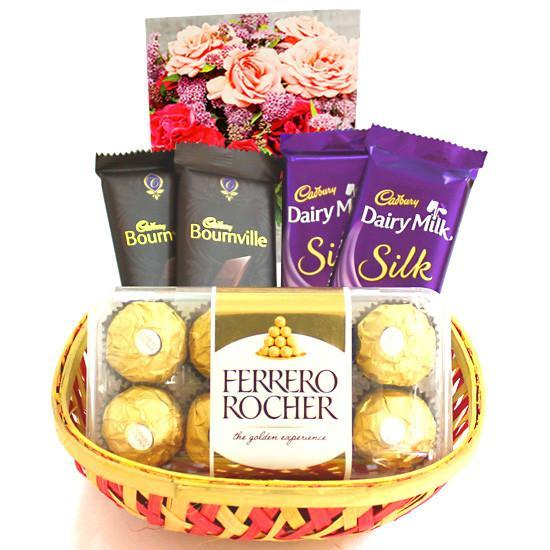 Ferrero Mix Choco Basket - from Best Flower Delivery in India