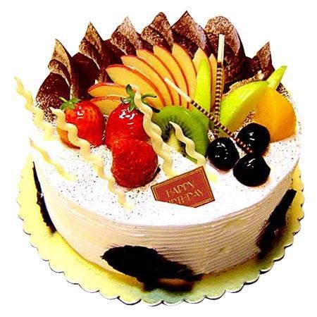 Fresh Fruit Cake - for Online Flower Delivery In Baroda