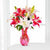 Fresh n Exotic- - This beautiful bunch consist of: 6 Pink Oriental Lilies Fresh green and white fillers Large glass vase