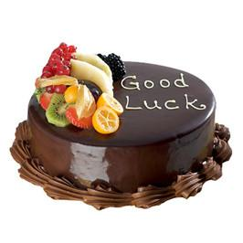 Fruit Chocolate Cake half kg - for Flower Delivery in India