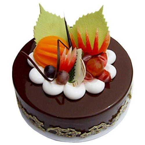 Fruit Chocolate Cake - Send Flowers to Kolkata