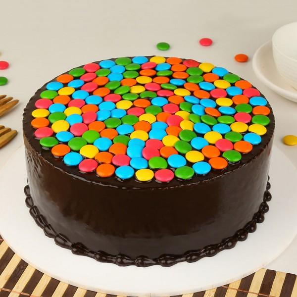 Gems Magic Truffle Cake - for Flower Delivery in India