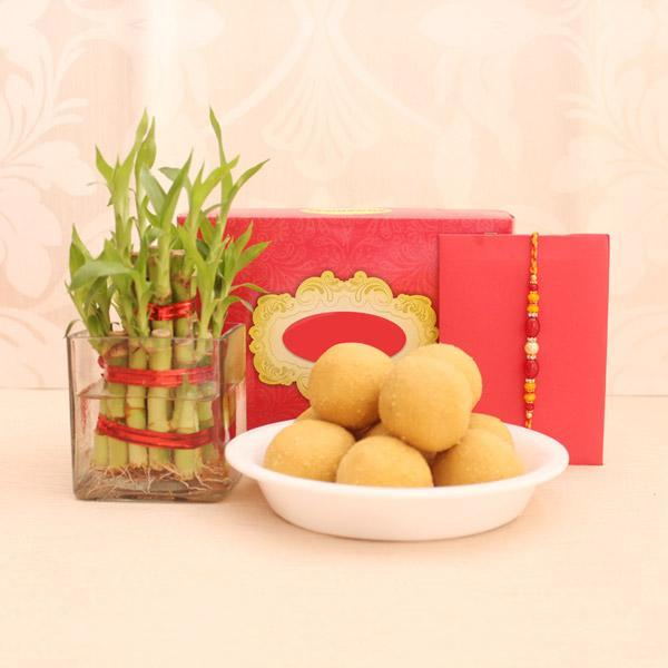 Good Luck Rakhi Wishes - for Midnight Flower Delivery in India