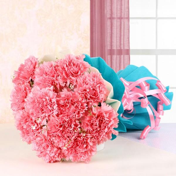 Graceful Pink Carnation - for Flower Delivery in India