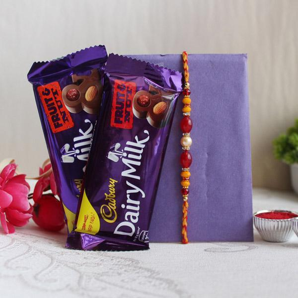 Happiness Of Chocolates With Rakhi - from Best Flower Delivery in India