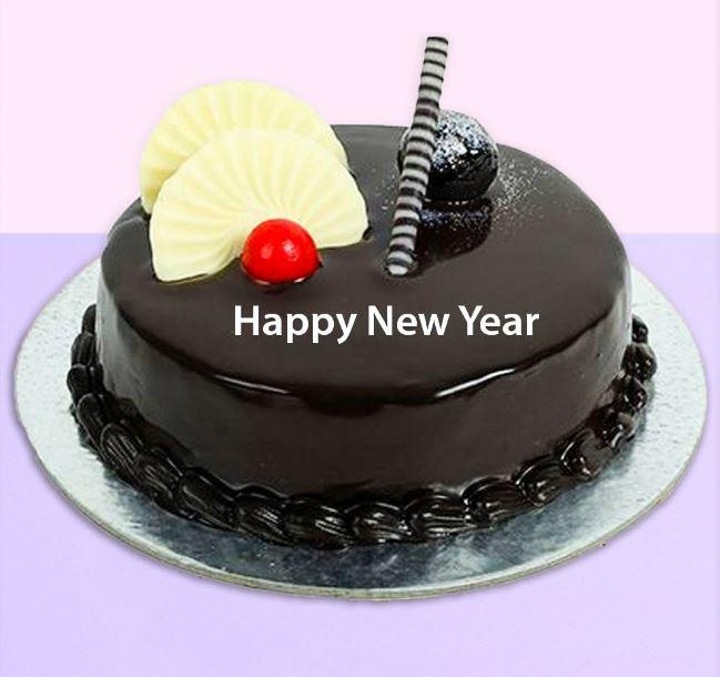 Happy New Year Birthday Cake - for Flower Delivery in India