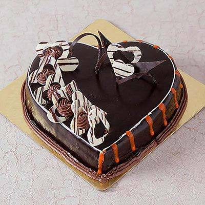 Heart Shape Chocolate Truffle Cake - from Best Flower Delivery in India