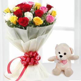 Innocent Teddy Love - from Best Flower Delivery in Valentine Gifts For Girlfriend