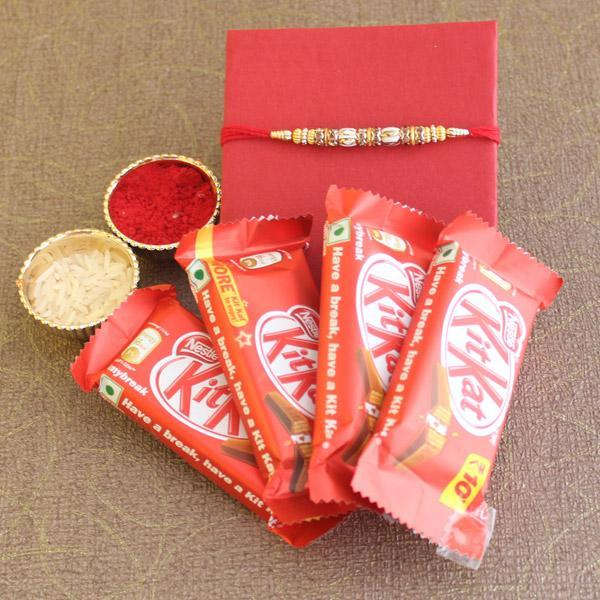 Kitkat Rakhi Delight - Send Flowers to India