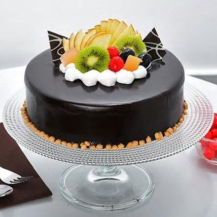 Licious Fruit Chocolate Cake - for Flower Delivery in India