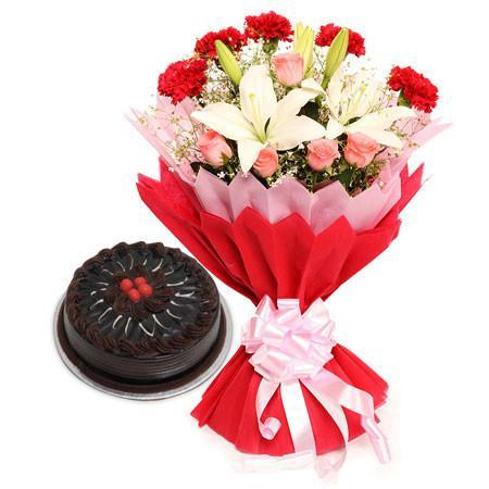 Lilies And Chocolates - for Online Flower Delivery In India