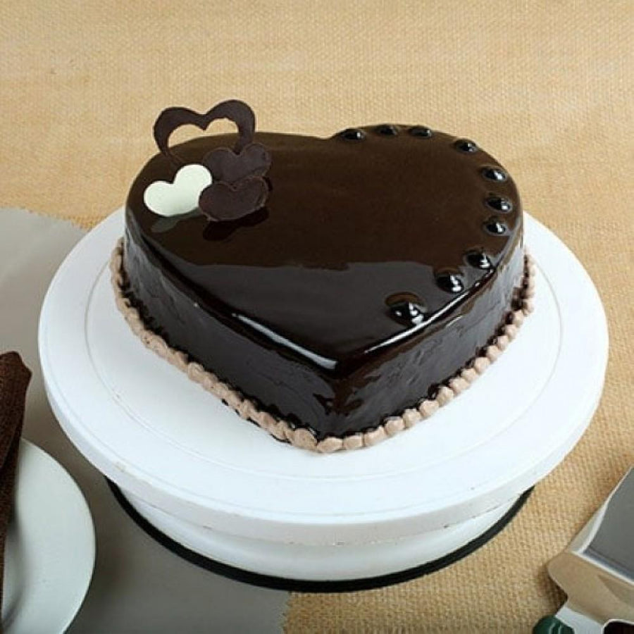 Love Heart Chocolate Cake