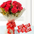 Love n Kitkat- - for Midnight Flower Delivery in Occasion Gifts New Year - This beautiful combo contains: 12 Red roses with cellophane paper wrap Red Ribbon bow 5 Kitkat chocolate