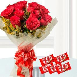 Love n Kitkat - for Flower Delivery in Occasion Gifts New Year