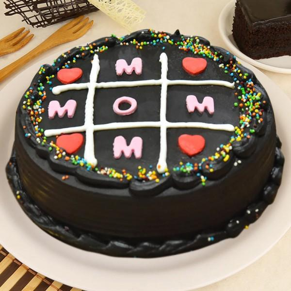 Love You Mom Chocolate Cake - for Midnight Flower Delivery in India