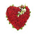 Lovely Heart- Heart Shaped 100 Red Roses Bouquet- - for Midnight Flower Delivery in India - Product Details: 100 Red Roses Heart Shape Arrangement Green Fillers Heart and rose both are an essential part of a love story, and here we will provide you both in our special Heart-shaped rose bouquet. It is comprised of fresh 100 roses all packed and designed to shape your relation in a way you wish it to be. While we always strive to ensure that products are accurately represented in our photographs, from season to season and subject to availability, our florists may be required to substitute one or more flowers for a variety of equal or greater quality, appearance and value.