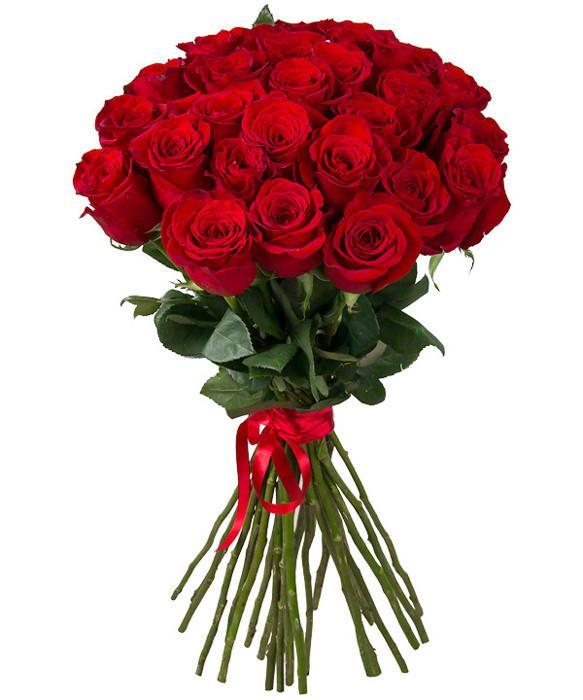 Lovely Romance- Bunch Of Red Roses - from Best Flower Delivery in India