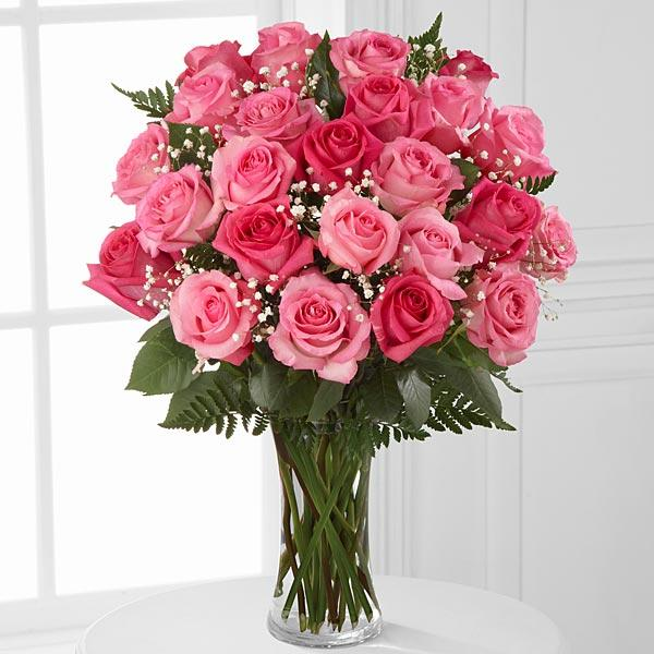 Magnificent Sweet Pink-24 Pink Roses - for Online Flower Delivery In India