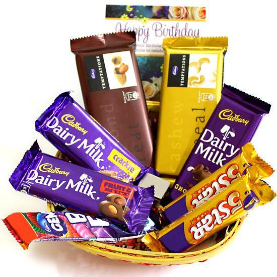 Mini Choco Basket - for Midnight Flower Delivery in India