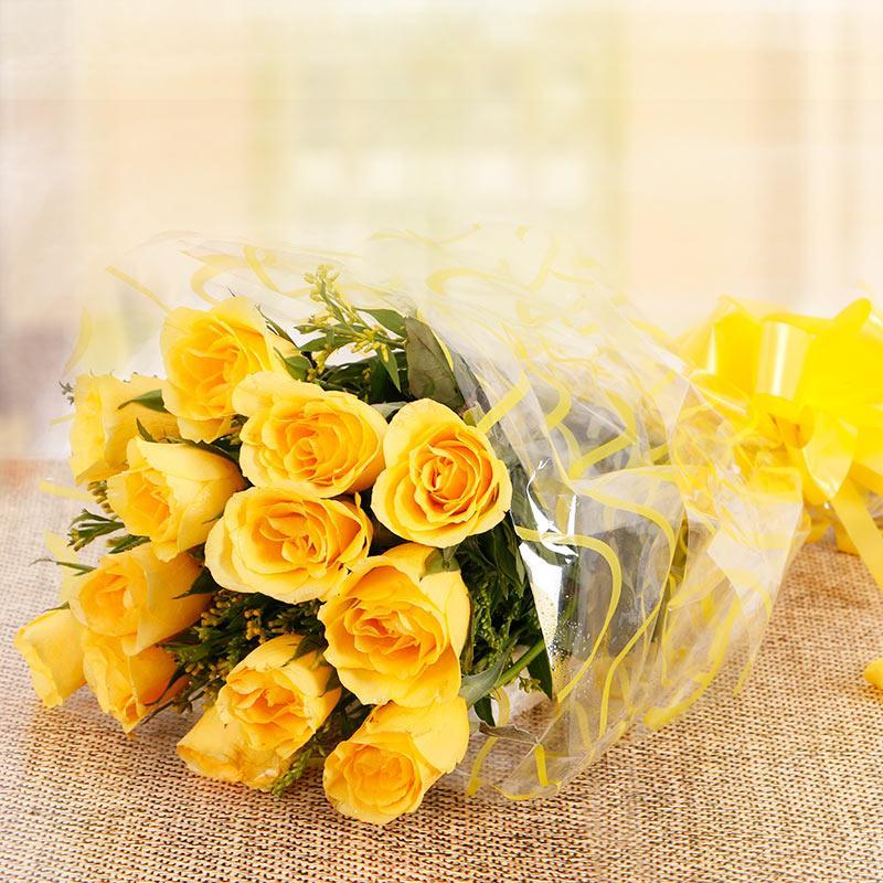 Miss U Friend-10 Yellow Roses - from Best Flower Delivery in India