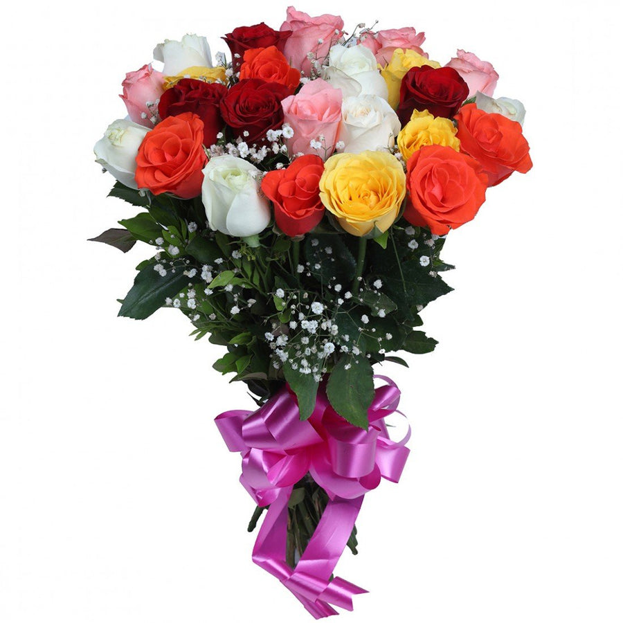 Mix Roses Bouquet - for Midnight Flower Delivery in India