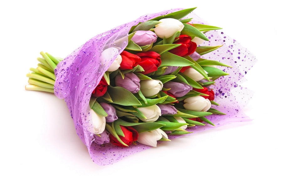 Mixed Tulips Bunch - for Flower Delivery in India