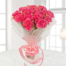 Naughty Pink Carnations Bouquet - for Online Flower Delivery In Bhubaneswar