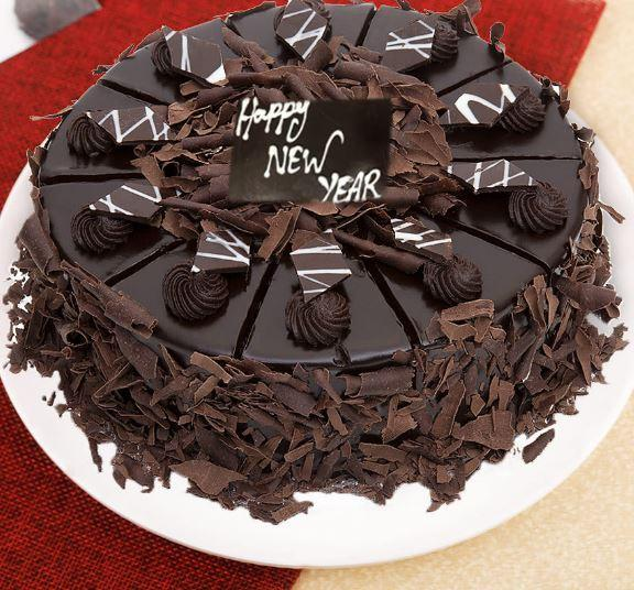 New Year Special Cake - for Online Flower Delivery In India