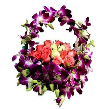 Spirited Glory Basket - for Online Flower Delivery In India